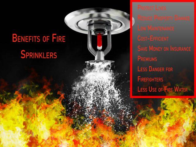 Fire Sprinkler system benefits